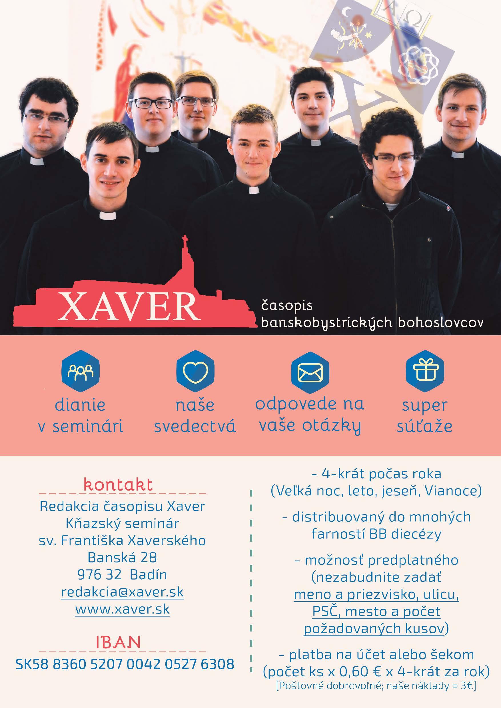 Ponuka časopisu XAVER